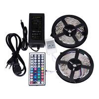 5m 10m RGB 5050 IMPERMEABLE Tira de luces LED 300SMD 24 llave a distancia 12v