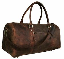 NEW Vintage Handmade buffalo Leather Duffle Bag,Gym Bag,Overnight Bag 21""