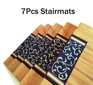 Stair Treads Non-Slip Rubber Back Quality Stair Mats 7 PIECES SET- FREE SHIPPING