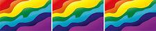 3x Mini Aufkleber Regenbogen Rainbow Sticker Auto Bike Fahrradaufkleber Motorrad