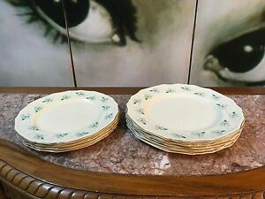 Collection Vintage English Porcelain Alfred Meakin Marigold Dinner Entree Plates