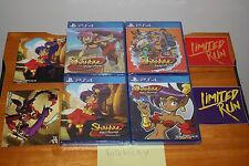 Shantae Pirate's Curse + Risky Revenge (PS4) NEW SEALED ALL 4-VARIANTS MINT SET!