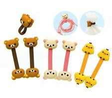 Lovely Double Animals Head Wire Winder Earphone Headphone Cable Holder Organizer