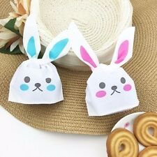50pcs Rabbit Ear Cookie Plastic Candy Biscuit Packaging Packing Bag Wedding Gift