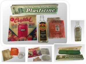 Vintage ADVERTISING Lot - Plasticine - Seven Seas - Veritas - Jam Pot Covers
