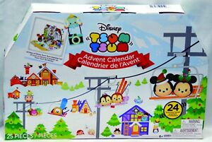 Disney's Tsum Tsum Countdown Advent Calendar Winter Ski Slopes 2017 edition NIB
