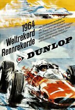 Art Dunlop 1964 world record speed automobile car F1 racing  Poster Print