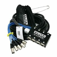 OSP Elite Core 8 Channel 30' Pro Audio Stage Studio Snake XLR Mic Fan to Box