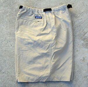 Vtg Patagonia Nylon Shorts Men's Size XL Light Khaki
