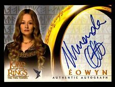 Lord of The Rings Two Towers Mirando Otto as Eowyn Autograph Card LOTR TTT