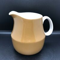 Mikasa Cera-Stone Brown And White Creamer Mid Century Modern Japan Vintage Retro
