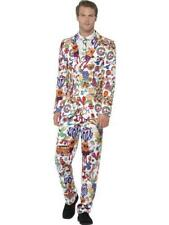 Groovy Stand out Suit – Mens 60s Fancy Dress Costume Hippie Peace Smiffys 24592 M - Medium