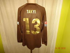 "FC St.Pauli Original Langarm Matchworn Trikot 07/08 ""Congstar""+ Nr.13 Takyi Gr.L"