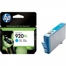 HP 920XL Original Cartouche D'encre Cyan 6000 6500 7000 6500 A 7500 A WF rapide POSTAGE