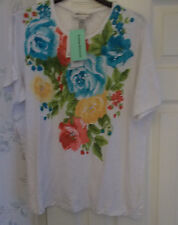 CATHY DANIELS FLORAL EMBELLISHED BURNOUT TOP SIZE XL NEW WITH TAGS