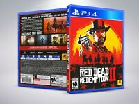 Red Dead Redemption II - PS4 - Replacement Cover / Case (NO Game)