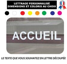 Sticker lettrage texte  personnalisé Vitrine panneau Autocollant Adhesif