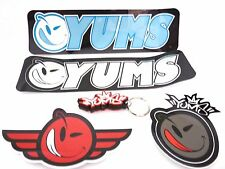YUMS KEY RING KEY CHAIN + ONE DECAL STICKER *PICK UP YOUR FAVORITE