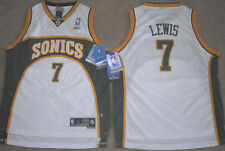 NEW REEBOK SWINGMAN LEWIS JERSEY SONICS MAGIC MEDIUM M WHITE YOUTH