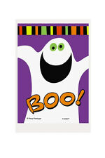 50 X Trick or Treat Happy Halloween Bag Friendly Ghost Boo Cello Bags 11 X 16 Cm