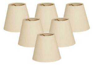 Hardback Empire Beige Chandelier Lamp Shade, Clip On