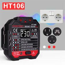 Electric Mains Fault Checker Socket Tester Digital Display Plug In AC 110V-230V