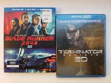 Blade Runner 2049 3D + Terminator Genisys 3D Blu-ray+Rare Slip Cover No Digital