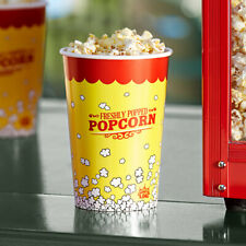 500 Pack 46 Oz Round Paper Watch Movie Theater Concession Yellow Popcorn Cups