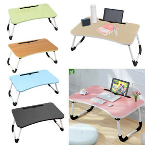 Laptop Bed Table Breakfast Tray with Foldable Legs Notebook Standing Sofa Desk