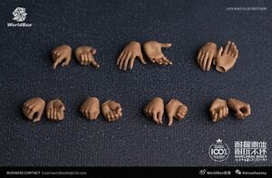 7 Pairs 1/6 Scale Worldbox Male Hands Type 2.0 Accessory Fit 12'' Action Figure