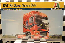 "Italeri 3834 DAF XF Super Space Cab Truck ""Lady Cat""  1:24 Plastic Model 553834"