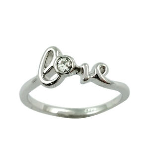 Fashion Jewelry - 18K White Gold Plated Love Ring (FR262)