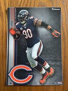 JULIUS PEPPERS 2013 Chicago Bears uni w/ Logo Fathead Mini Card #39  L@@K