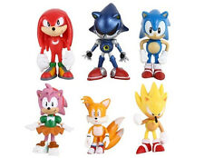 SONIC THE HEDGEHOG CAKE TOPPERS  6 PLASTIC FIGURES BRAND NEW FREE P+P