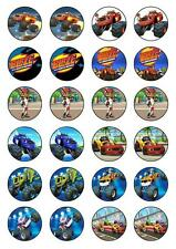 Blaze And The Monster Machines cupcake toppers edible rice paper.