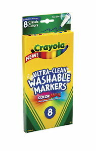 Crayola Classic Colors Fine Line Ultra Clean Washable Markers, 8 ct ( 58-7809 )