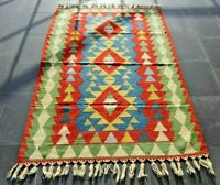 Turkish Runner Rug Vintage Oushak Kilim Anatolian Traditional Handmade Rug 4x6ft
