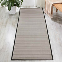 Eco Indoor Outdoor Ash Grey Black Durable Rug Runner - 2 Sizes **FREE DELIVERY**