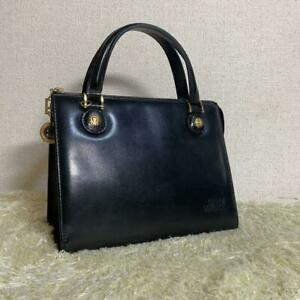 Genuine Gianni Versace Bag Sunburst Black Leather Vintage