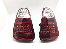 Black Smoke Fully LED Tail Lights Rear Lamps Fits 01-04 MINI COOPER R50 R52 R53
