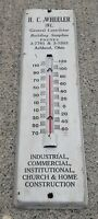 H C WHEELER INC General Contractor ASHLAND OHIO WALL THERMOMETER construction