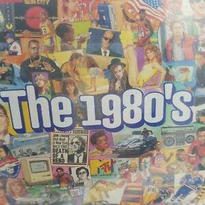 """White Mountain puzzle. Sealed. """"THE 1980'S"""" Nostalgic Collage/ 1000 Peice."""