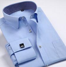 Mens Fashion Formal Slim Casual Long Sleeve French Cuff Business Shirts MT347