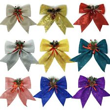 "Allgala Christmas Decorative Bows 11"" Large For Wreath Garland Tree-topper"