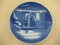 "1958 B&G BING & GRONDAHL CHRISTMAS PLATE ""SANTA CLAUS""-KJELD BONFILS, 7"" DIA"