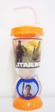 STAR WARS THE FORCE AWAKENS 8.5OZ SPIN TUMBLER WITH STRAW DISNEY CUP NEW GIFT