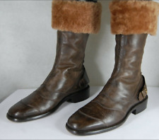 Belstaff Shearling Leather Custommaster MEN BIKER RIDING WARM BOOTS EU 40 US 7.5
