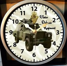 OP BANNER UDR SHORELAND LANDROVER NORTHERN IRELAND CIRCLE WALL CLOCK 9 INCH DIA