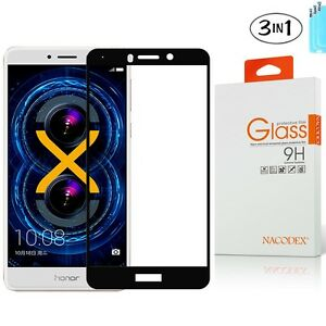 """[3x] NX Tempered Glass [Full Cover] Screen Protector For Huawei Honor 6X 5.5"""""""
