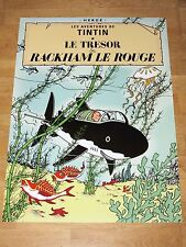 TINTIN POSTER LARGE - LE TRESOR DE RACKHAM ROUGE / SHARK - 70 x 50 cm MINT NEW